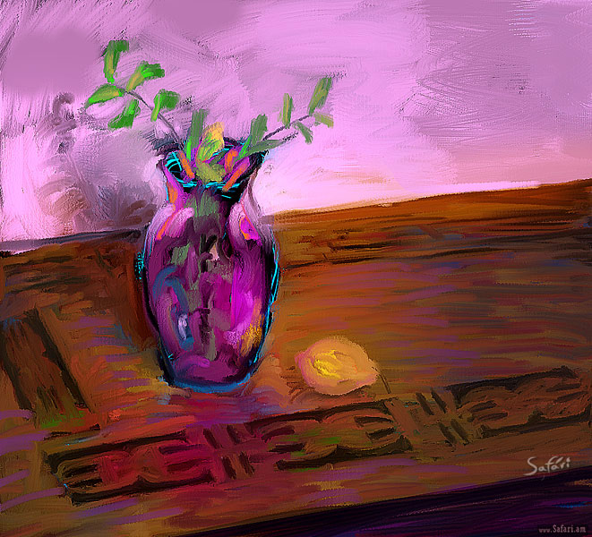 Still life in purple, Photoshop, MagicPicker, John Derry's Brushes
